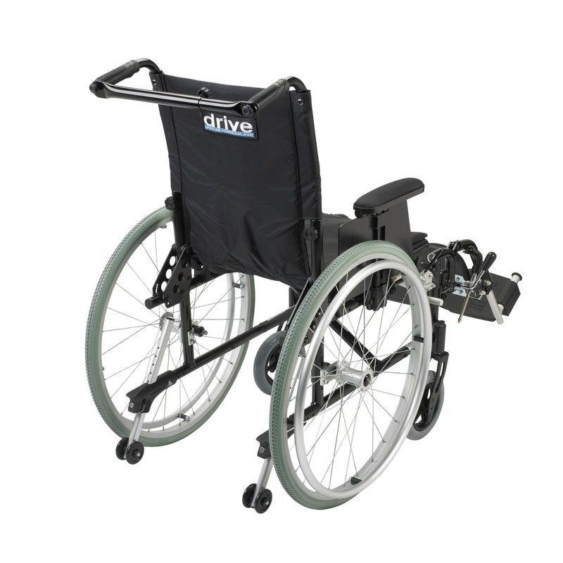 "Cougar Ultra Lightweight Rehab Wheelchair, Elevating Leg Rests, 16"" Seat"