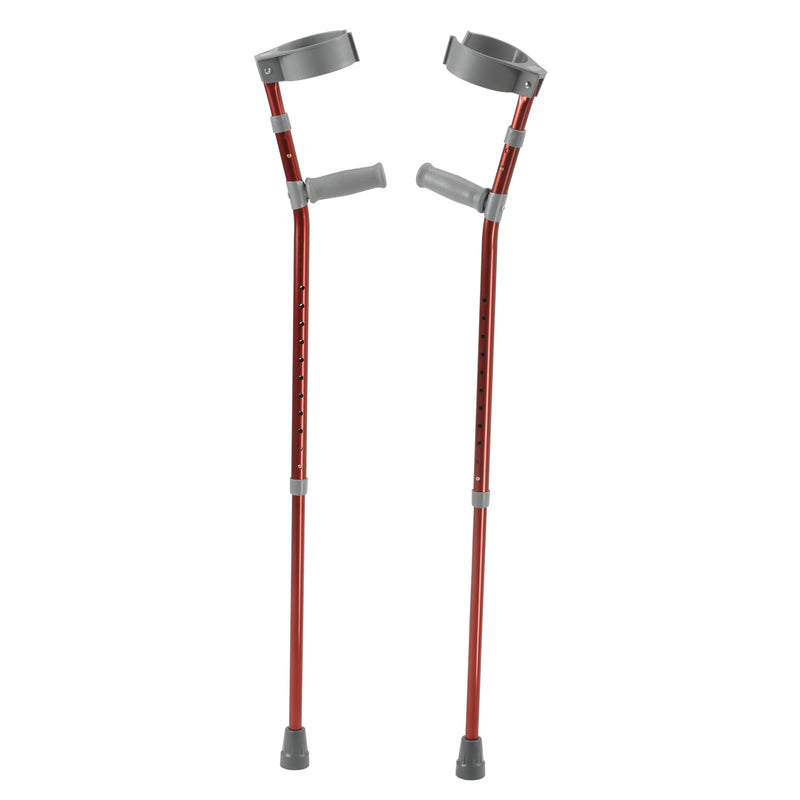 Pediatric Forearm Crutches, Large, Castle Red, Pair