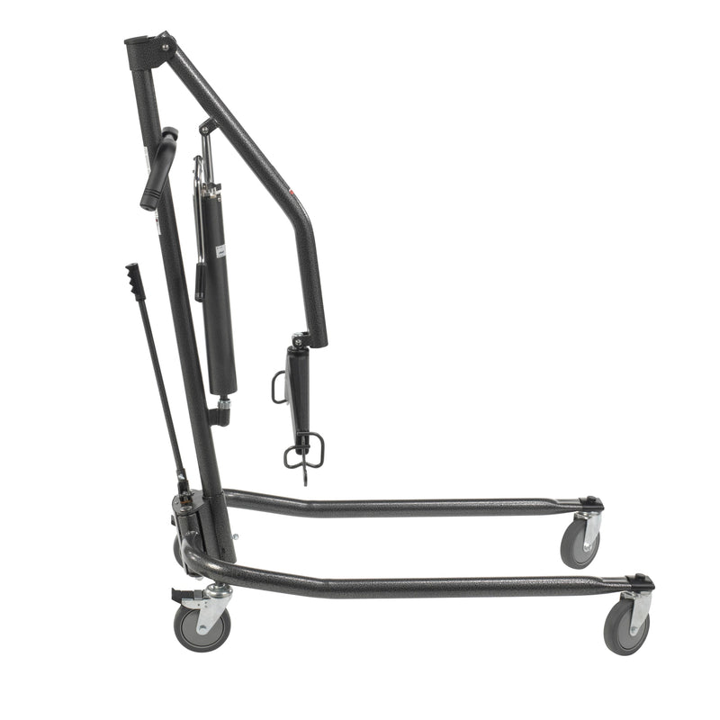 "Hydraulic Patient Lift with Six Point Cradle, 5"" Casters, Silver Vein"