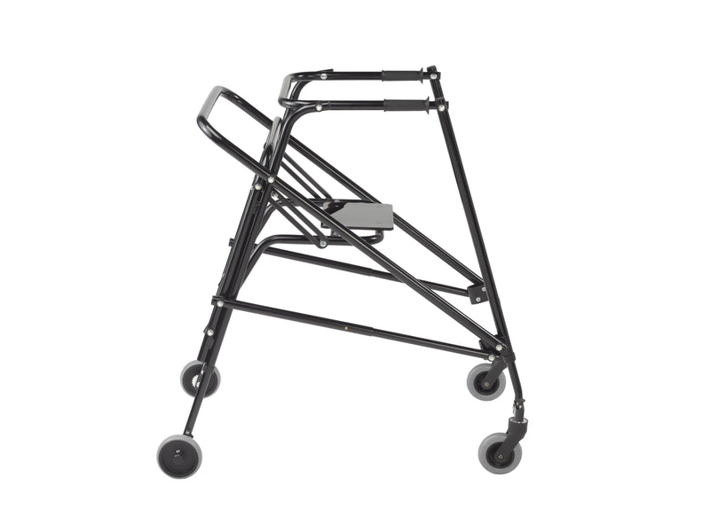 Nimbo 2G Lightweight Posterior Walker with Seat, Extra Large, Emperor Black