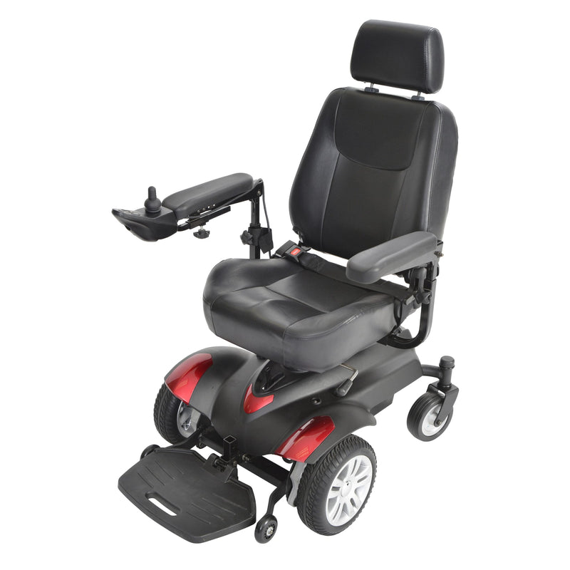 "Titan X23 Front Wheel Power Wheelchair, Full Back Captain's Seat, 20"" x 18"""