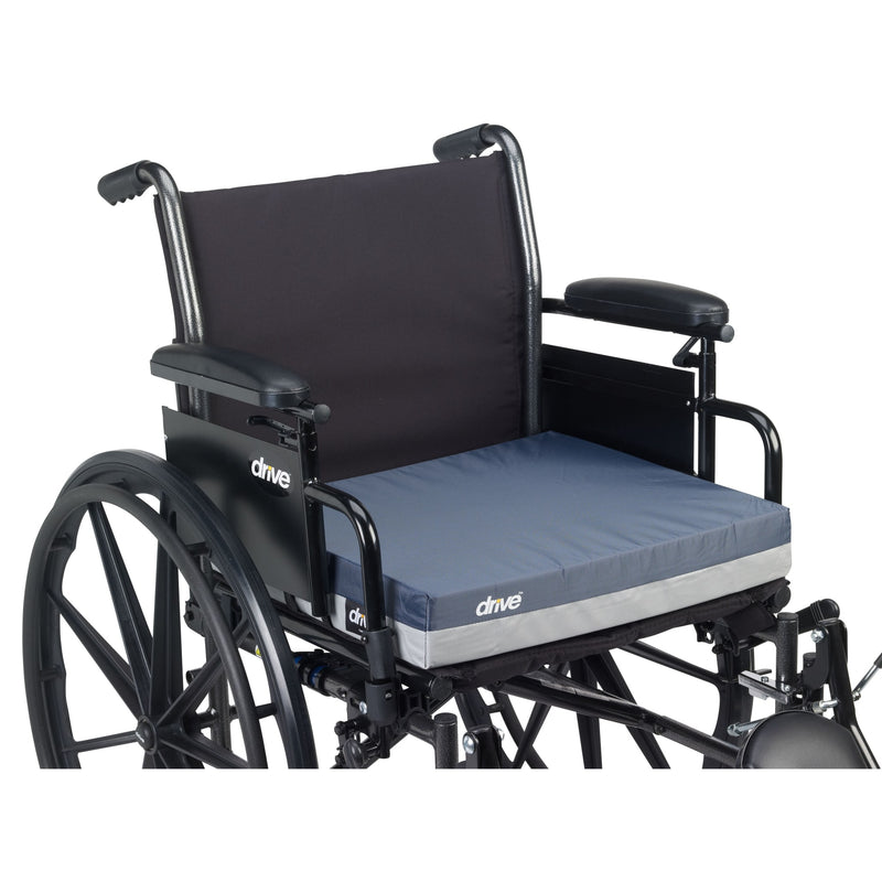 "Gel ""E"" Skin Protection Wheelchair Seat Cushion, 18"" x 18"" x 3"""