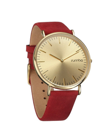 Soho Crimson Suede Watch by Rumba Time