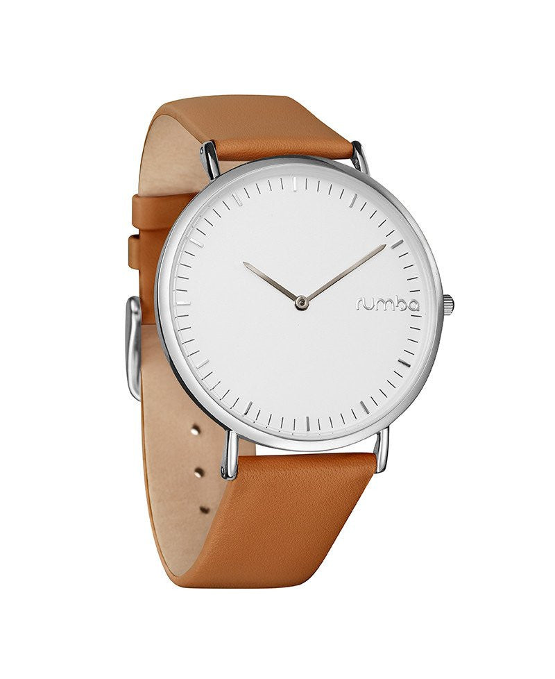 Soho Leather Watch in Hazelnut by Rumba Time