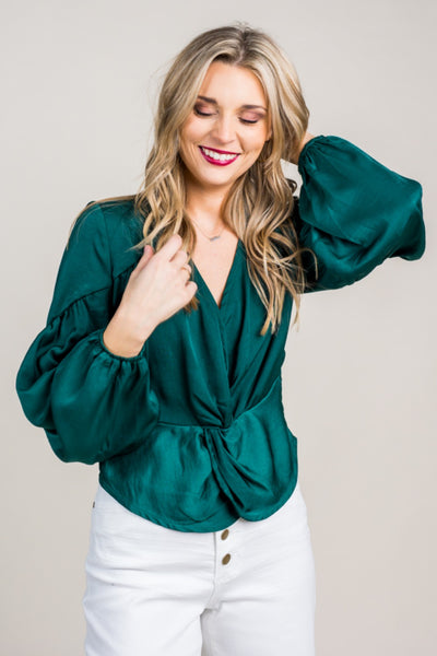 Marsha Front Knot Blouse
