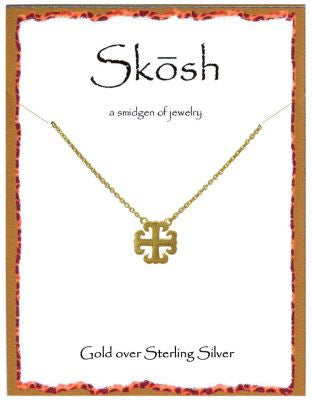 Designer Inspired Necklace in Satin Gold by Skosh