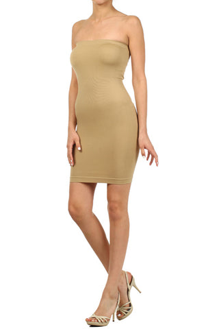 Seamless Strapless Tank in Nude