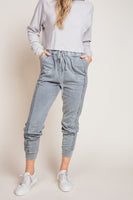 Mineral Wash Joggers in Grey