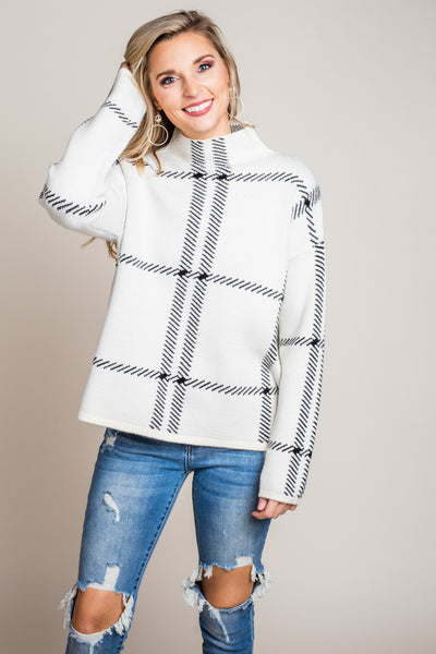 Out Of Mind Sweater in Cream
