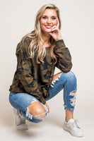 Carey Camo Top