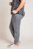 Mineral Wash Joggers in Grey (XL-2X)