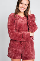 Love Is About Ribbed Sweater in Marsala