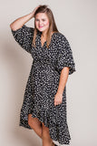 Down With Dalmatian Dress in Black (XL-2X)