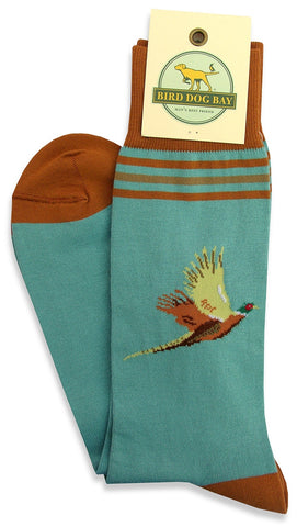 Pheasant Flight Socks in Blue by Bird Dog Bay