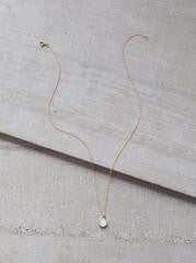 Druzy Petite Layering Necklace in White by FashionABLE