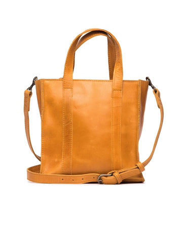 Elsabet Top Zip Crossbody in Cognac