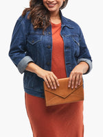 Solome Clutch in Cognac by ABLE