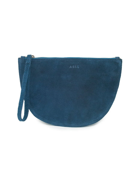 Hana Clutch by ABLE in Navy Suede