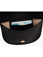 Fozi Slim Satchel in Black/Snake
