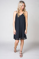 Payton Pleated Dress in Black