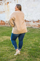 Balloon Sleeve Taupe Cardigan