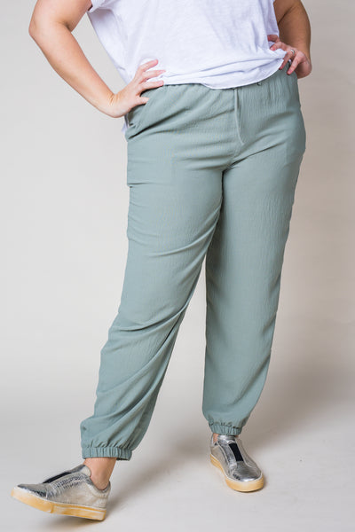 Cecilia Dusty Sage Trouser Joggers