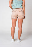 Gail Garment Washed Shorts in Tan