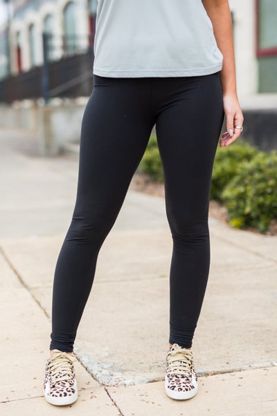 High-Waisted Wide Waistband Leggings