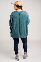 Logan Oversized Sweater in Green (1X-3X)