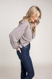 Harriet Henley Top in Taupe