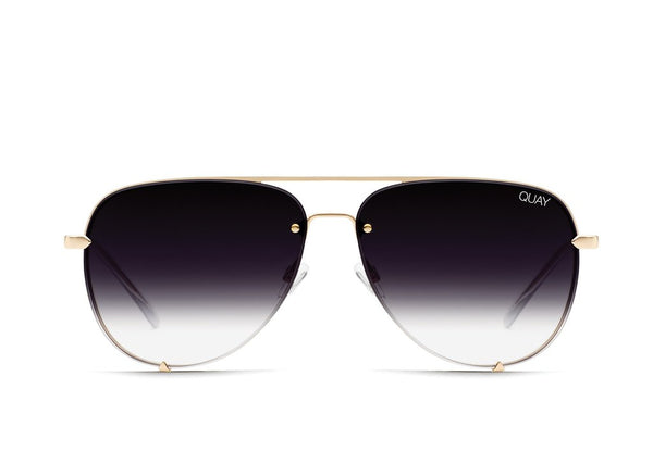 High Key Rimless in Gld/Fade by Quay