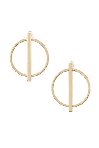 Round Bar Accent Post Earring