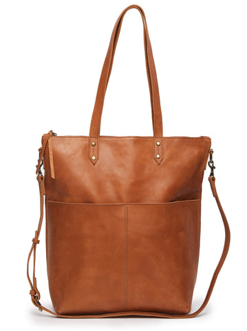 Chaltu Crossbody Tote in Chestnut by ABLE