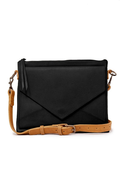 Solome Crossbody in Black/Cognac by ABLE