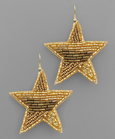 Star Multi Bead Earrings in Gold