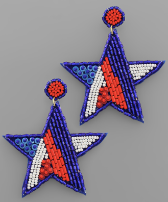 Bead Star Earrings