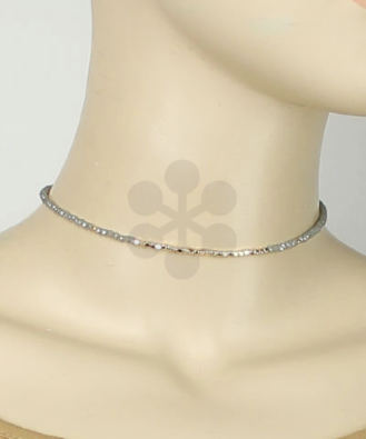 Beads Choker in Grey/Gold