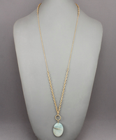 Stone Pendant Necklace in Amazonite
