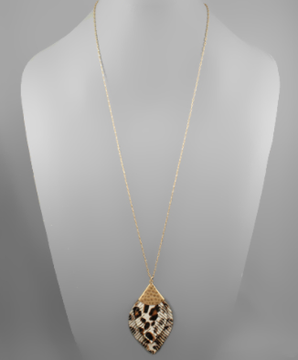 Leopard Leaf Casting Necklace