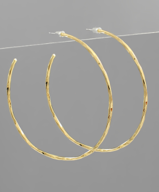 65mm Semi Hammered Hoops
