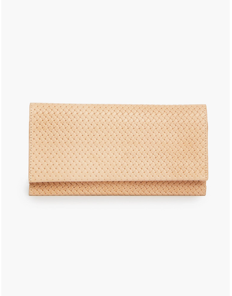 Debre Embossed Wallet in Vachetta