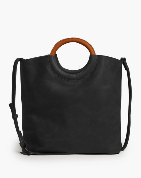 Fozi Ring Tote in Black/Whiskey by ABLE