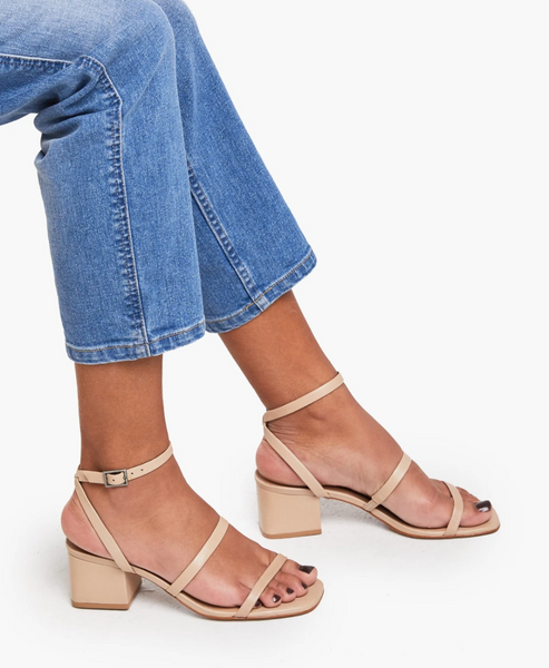 Scilia Block Heel in Sand by ABLE