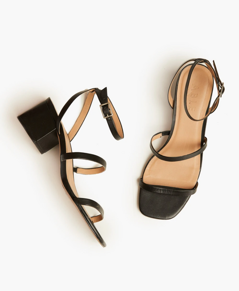 Scilia Block Heel in Black by ABLE
