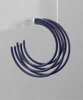 Navy Color 3 Row Hoops