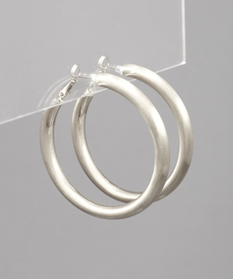 50mm Thick Hoops in Silver