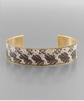 15mm Snake Skin Leather Cuff