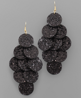Glitter Disk Cascade Earrings