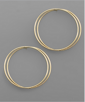 Overlapped Circle Earrings in Gold