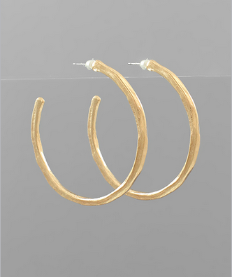 45mm Hammered Hoops